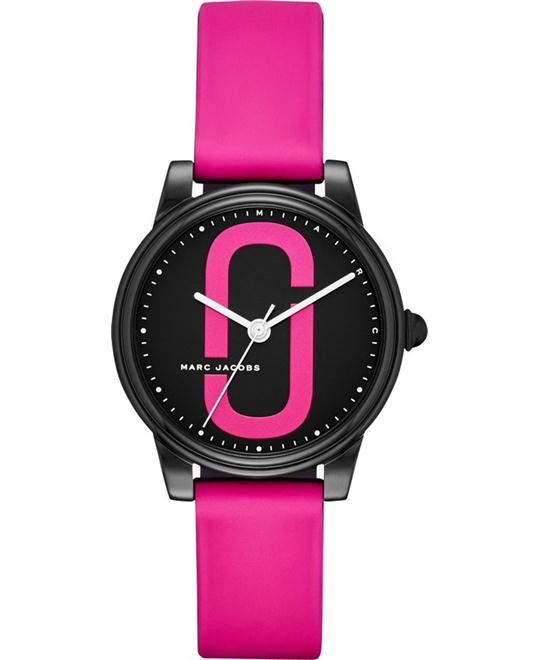 Marc Jacobs Corie Black IP and Pink Watch 36mm