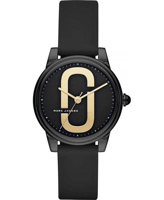 Marc Jacobs Corie Black IP Watch 36mm