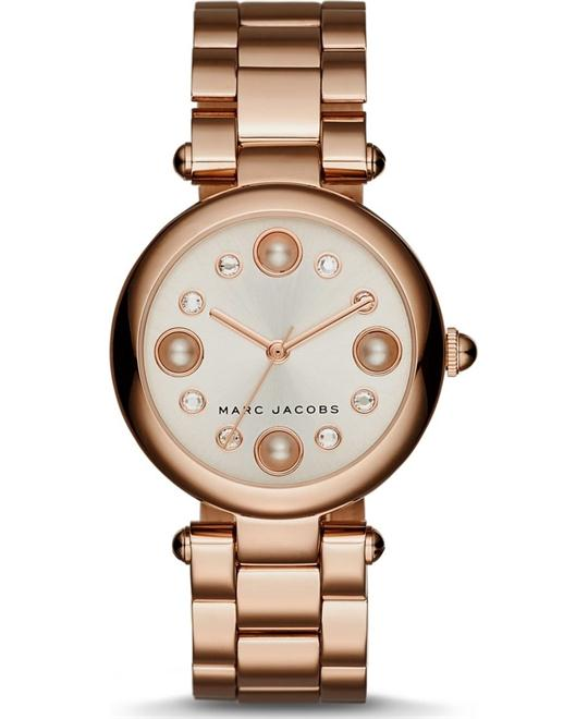 Marc Jacobs Dotty Rose Gold-Tone Women's Watch 34mm