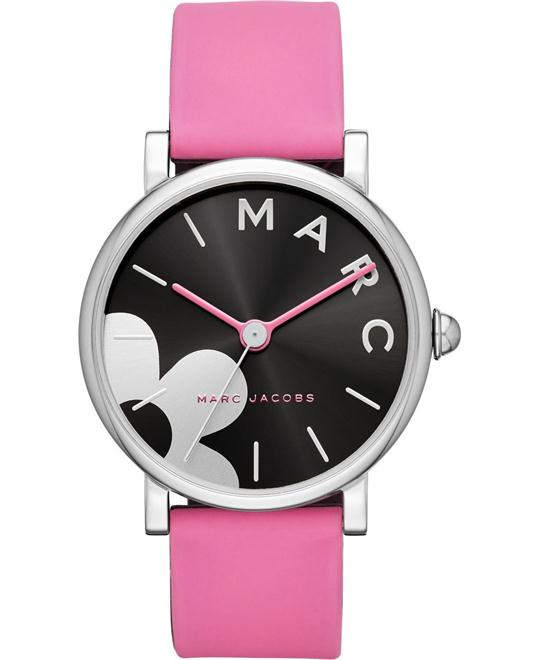 Marc Jacobs Pink Silicone Watch 36mm