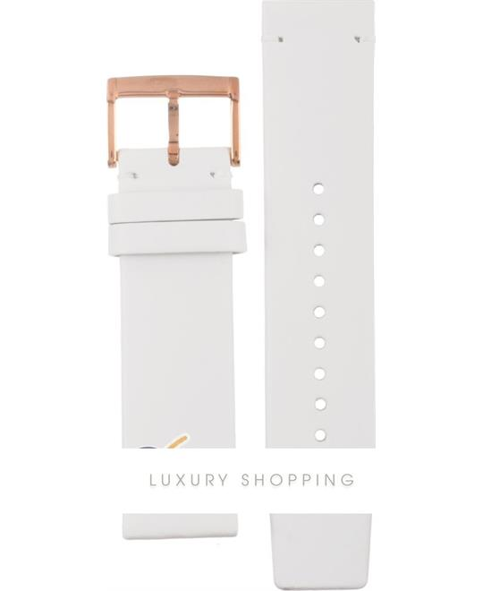 Marc Jacobs Straps Henry Xlarge White Leather Strap 22mm