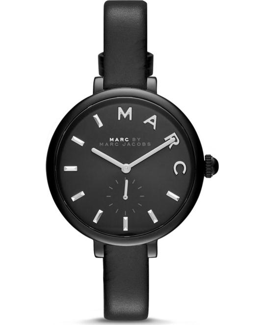 Marc Jacobs Women's Sally Black Leather Watch 36MM