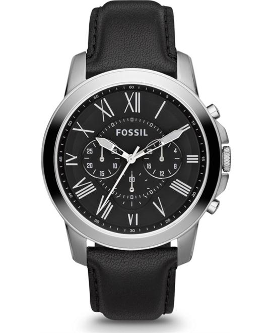 Fossil Men's Chronograph Grant Black Watch 44mm