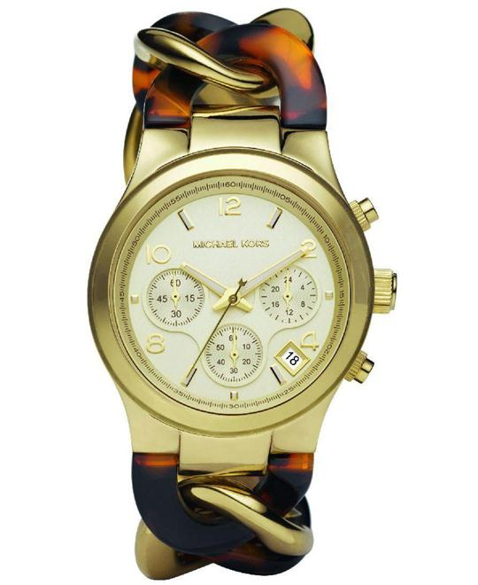 Michael Kors Chain Link Acrylic Gold-tone Ladies Watch 38mm
