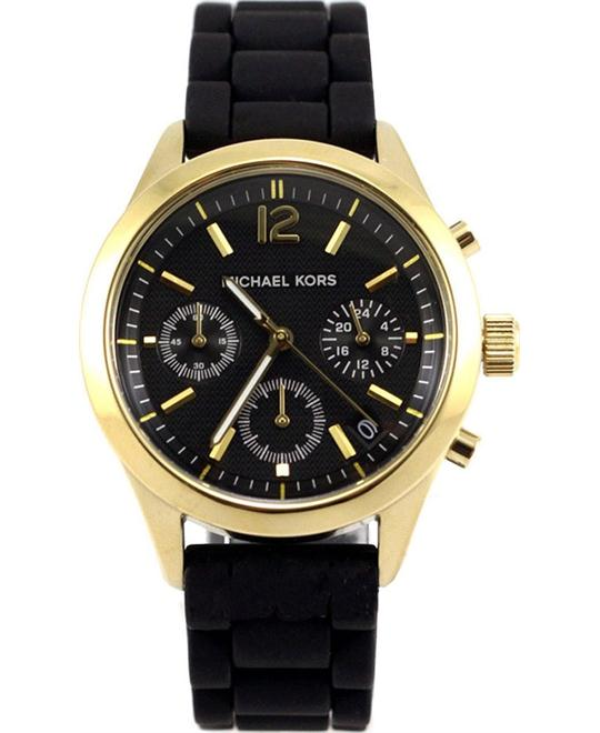 Michael Kors Jet Set Silicone Black Watch 40mm