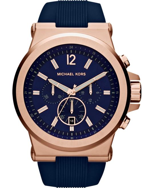 Michael Kors Dylan Blue Rubber Watch 48mm