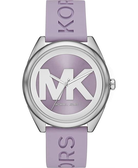 Michael Kors Janelle Lavender Silicone Watch 42mm