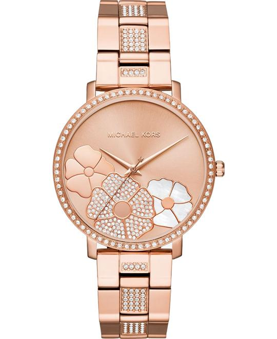 đồng hồ Michael Kors Jaryn Pavé Rose Gold Watch 38mm