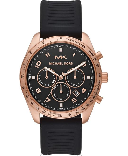 Michael Kors Keaton Rose Silicone Watch 43mm