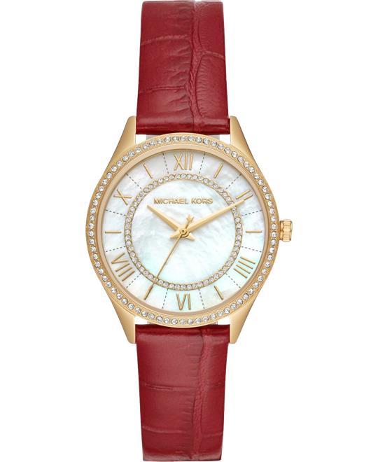 đồng hồ nữ Michael Kors Lauryn Mini Red Watch 33mm