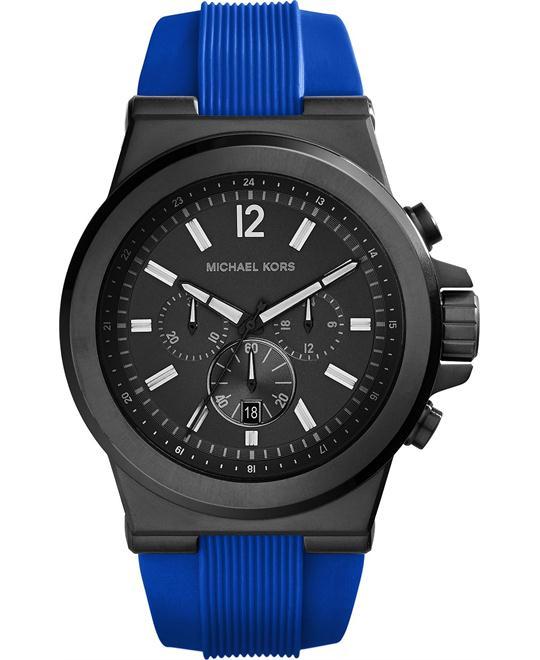 Michael Kors Dylan Blue Silicone Watch 48mm