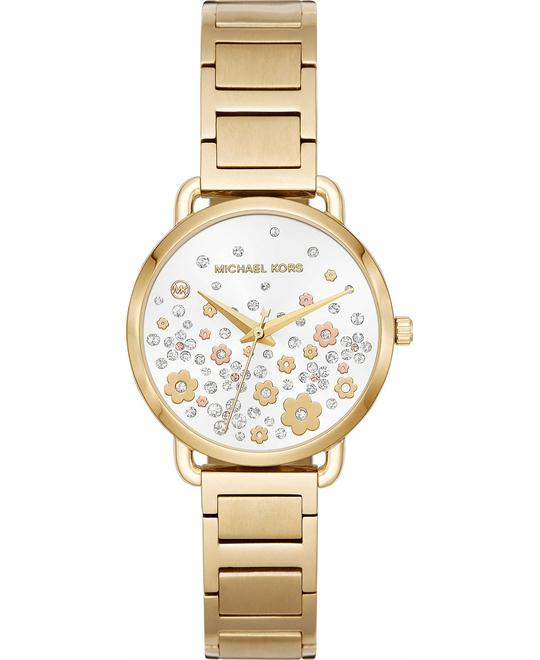 Michael Kors Mini Portia Gold-Tone Watch 32mm