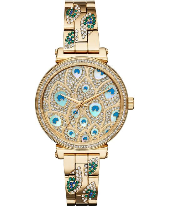 đồng hồ Michael Kors Mini Sofie Pavé Peacock Watch 36mm