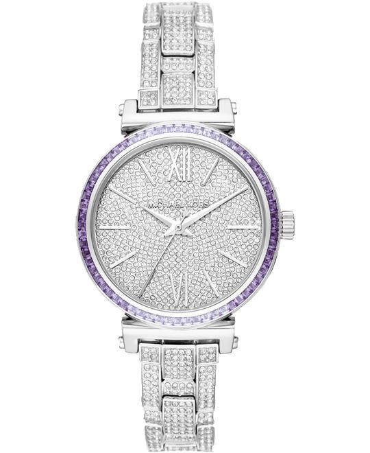 MICHAEL KORS Mini Sofie Pavé Silver-Tone Watch 36mm
