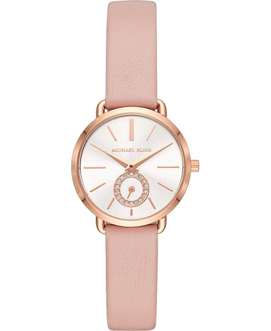 Michael Kors Petite Portia Rose Gold-Tone Watch 28mm