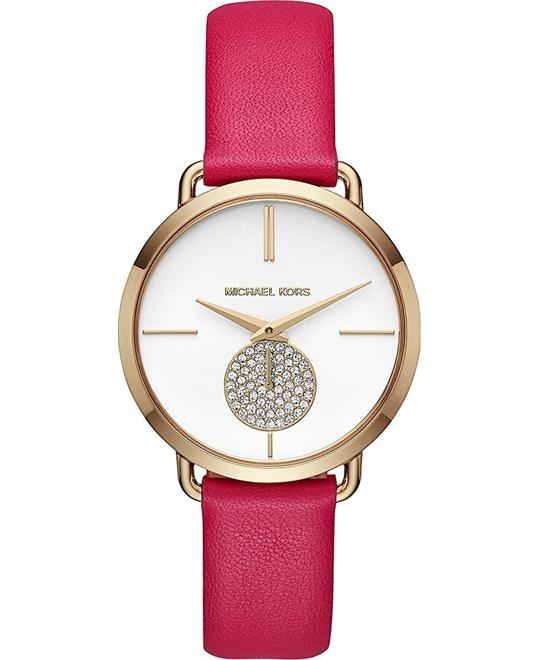 Michael Kors Portia Gold-Tone and Pink Watch 36.5mm