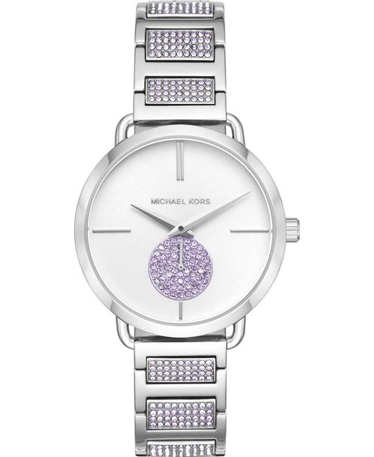 Michael Kors Portia Lavender Pavé Watch 37mm