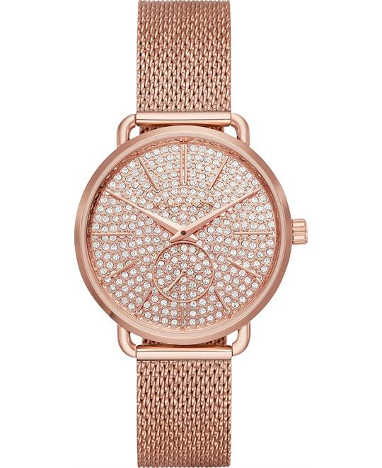 Michael Kors Portia Rose Gold-Tone Watch 36mm