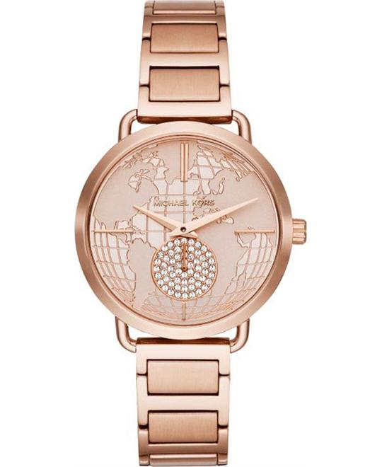 Michael Kors Portia Rose Gold-Tone Watch 37mm