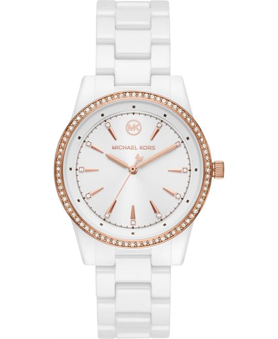 Michael Kors Ritz White Ceramic Watch 37mm