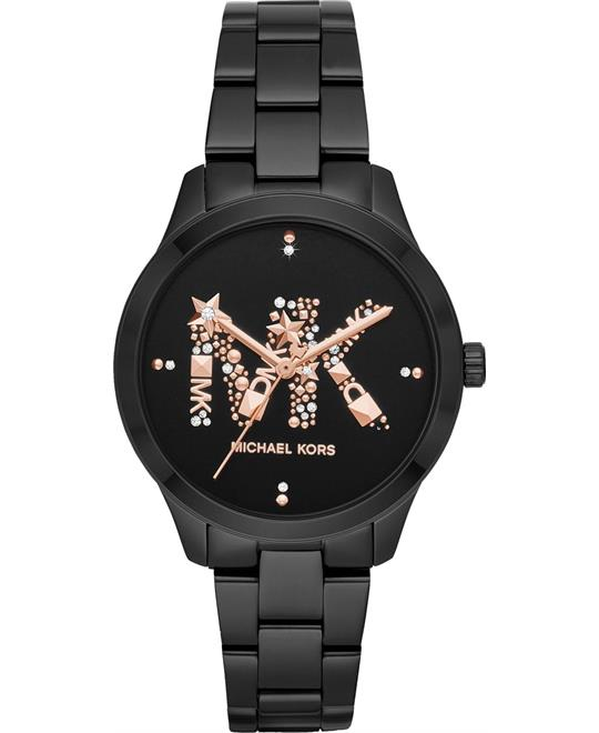Michael Kors Runway Black-Tone Watch 38mm