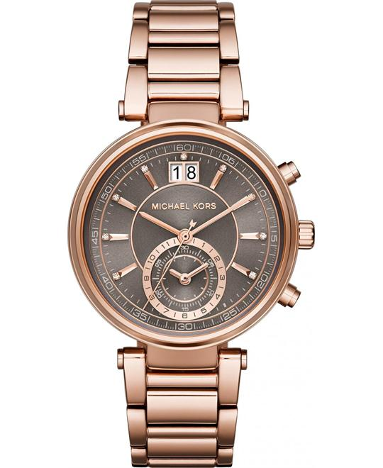 Michael Kors Sawyer Quartz Rose Gold Watch 39mm