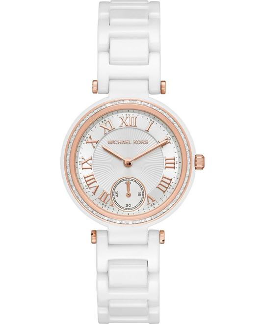 Michael Kors Skylar White Ceramic Watch 33mm