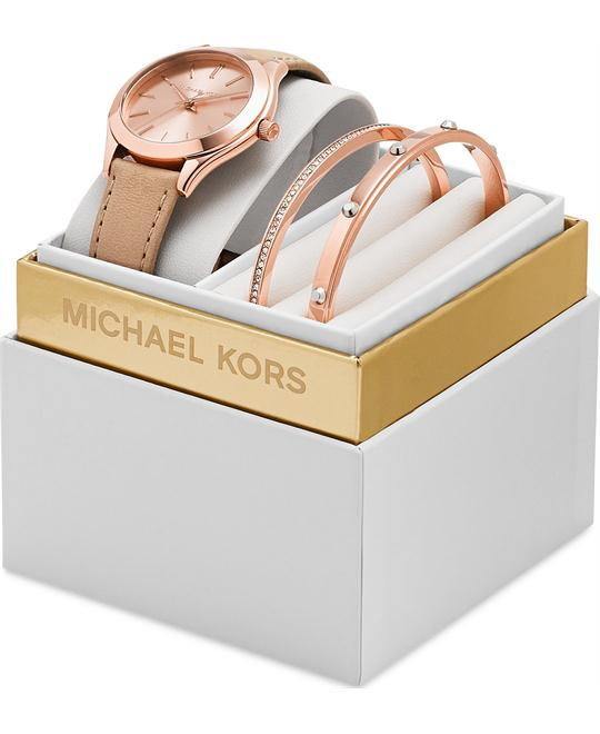 Michael Kors Runway Slim Watch Set 33mm