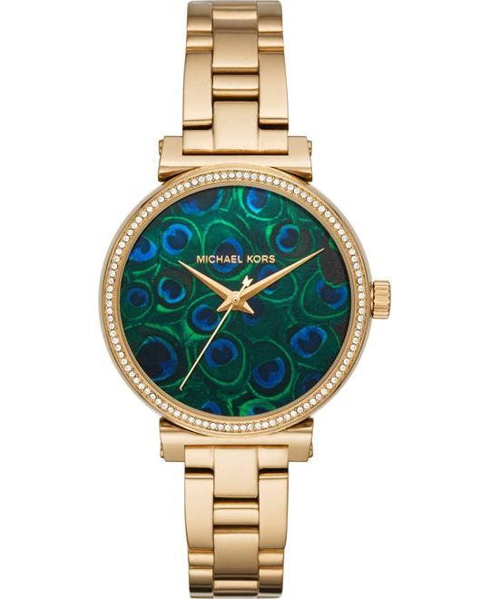 dong ho Michael Kors Sofie Three-Hand Watch 36mm