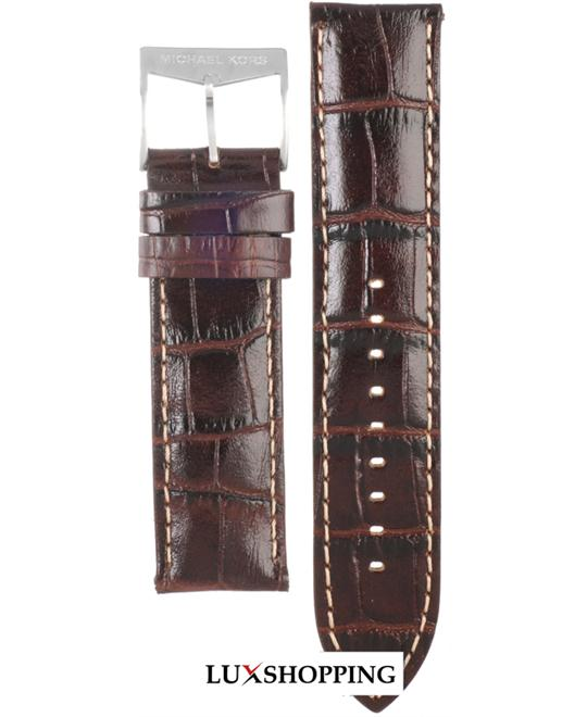 Michael Kors Straps Brown Leather Strap 22mm