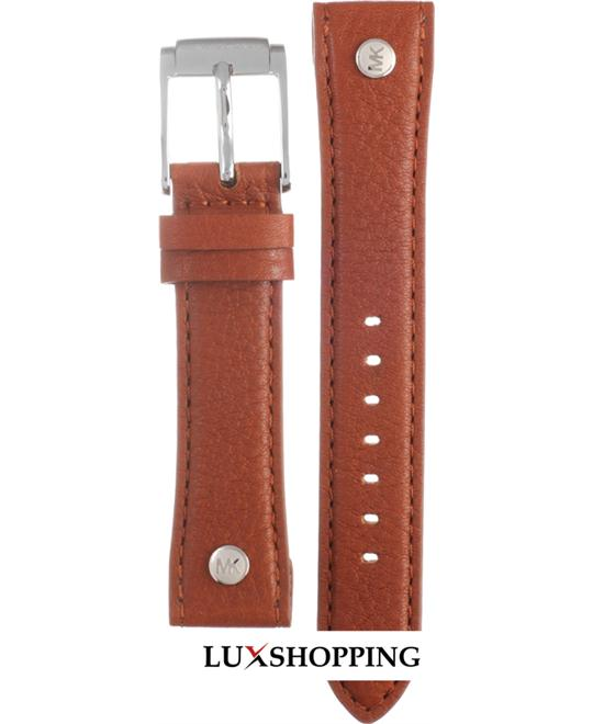 Michael Kors Straps MK2165 Taylor Brown Leather Strap 18mm