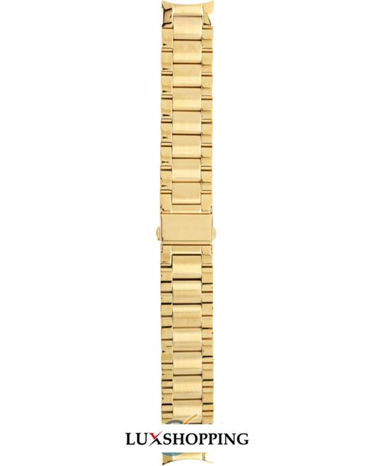 Michael Kors Straps Runway gold coated stainless steel