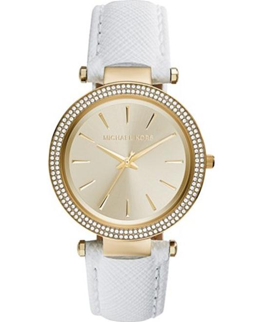 Michael Kors Darci White Saffiano Women's Watch 39mm
