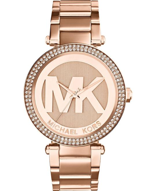 Michael Kors Parker Rose Gold MK Logo Watch 39mm