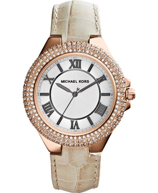 Michael Kors Camille Embossed Croco Watch 43mm