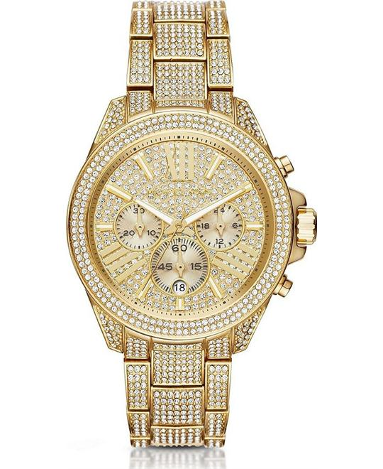 đồng hồ Michael Kors Wren Pavé Gold-Tone Watch 41.5mm