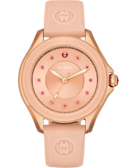 Michele Cape Rose Gold Tone Pink Watch 40mm