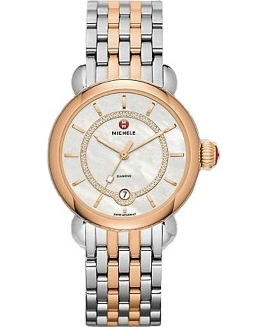 MICHELE CSX Elegance Mother of Pearl Ladies Watch 36mm