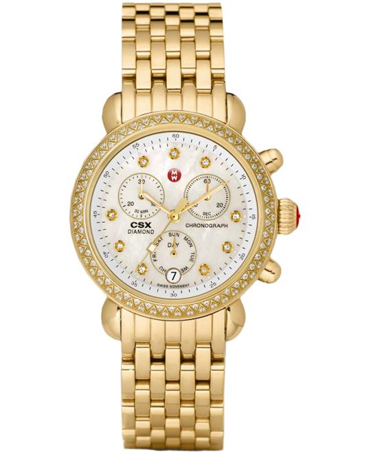 Michele CSX Ladies Gold Plated 36mm