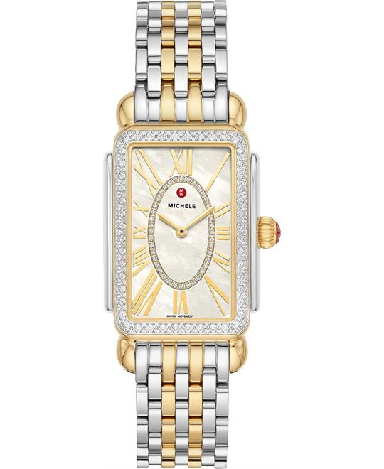 Michele Deco Diamond Watch 26.5mm x 37mm