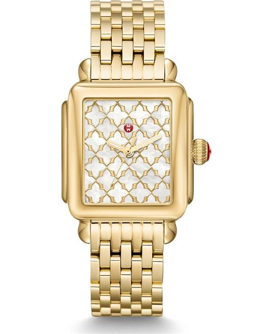 đồng hồ Michele Deco Gold Mosaic Watch 33*35mm