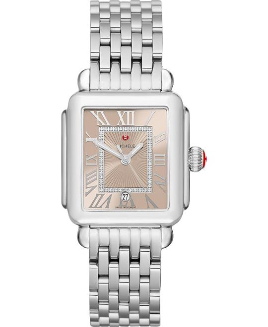 Michele Deco Madison Beige Diamond Watch 33 x 35mm