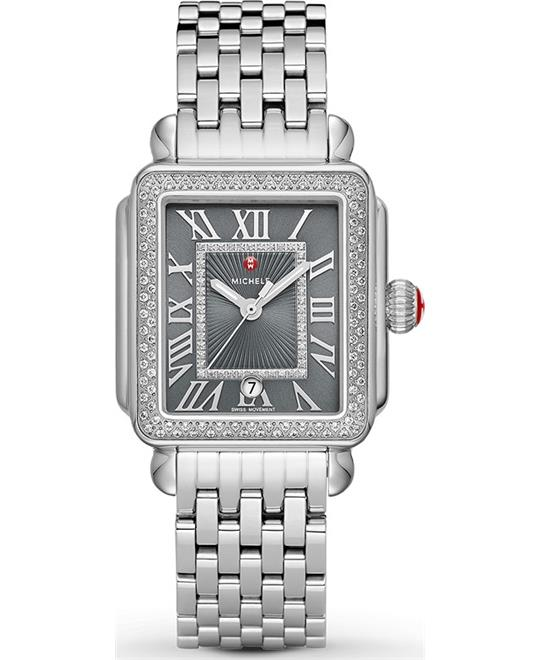 Michele Deco Madison Diamond Watch 33 mm x 35 mm