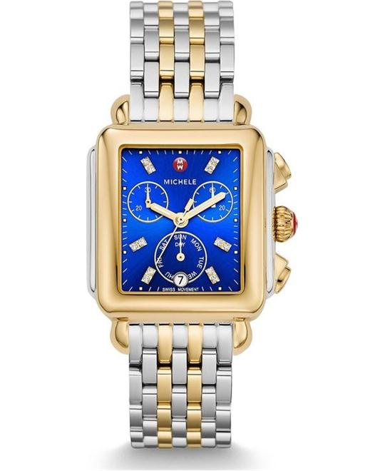 Michele Deco Non-Diamond Cobalt Watch 33*5mm