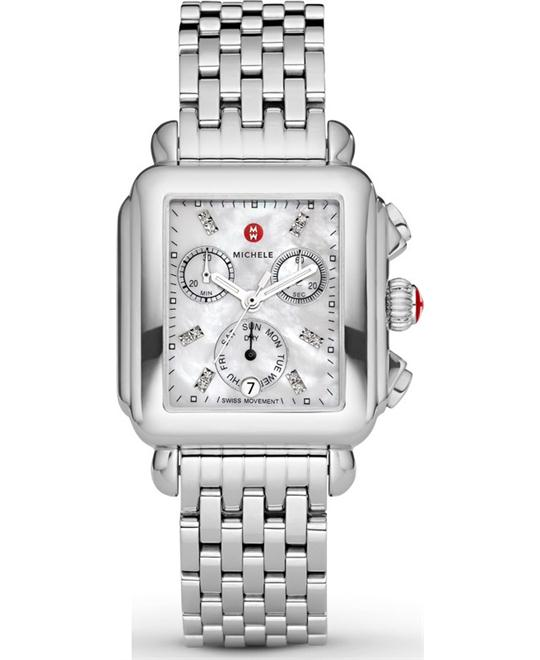 đồng hồ Michele Deco Non Diamond Watch 33*35mm