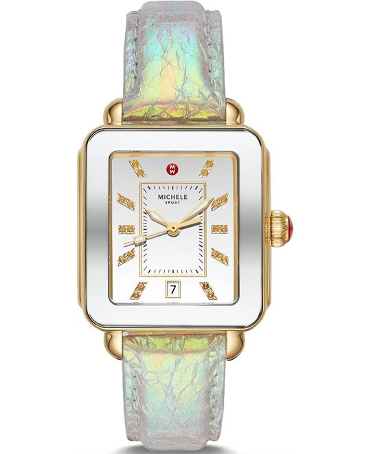 Michele Deco Sport Two-Tone Gold-Tone Watch 34mm X 36mm