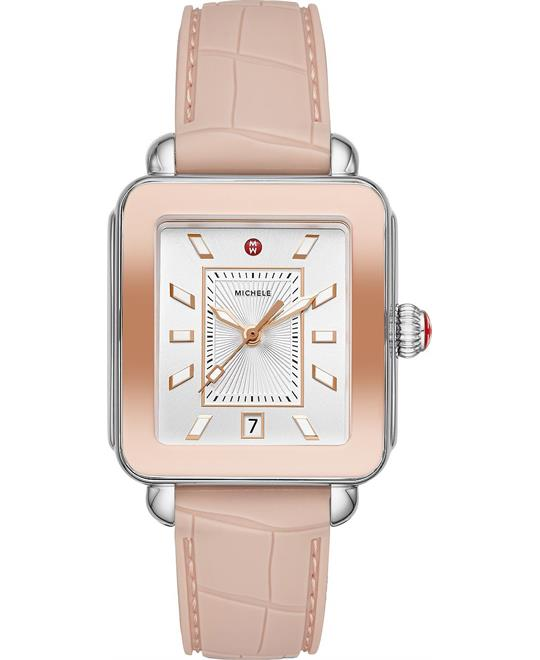 Michele Deco Sport Two-Tone Pink Gold Watch 34 mm x 36 mm