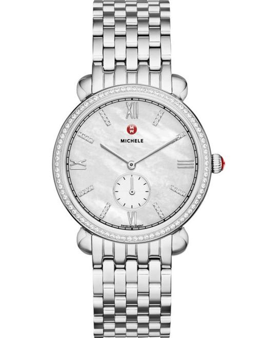 MICHELE Gracile Mother of Pearl Diamond Watch 36mm