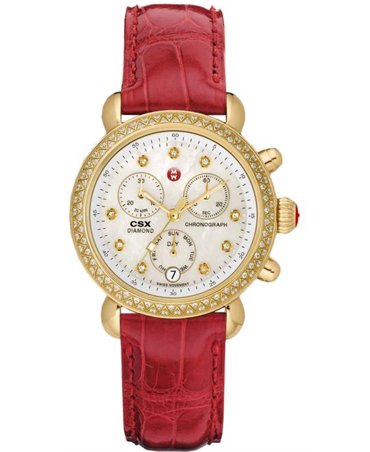 Michele Signature CSX Ladies Plated Leather 36mm