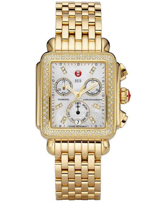 Michele Deco Diamond Ladies Watch 33*35mm